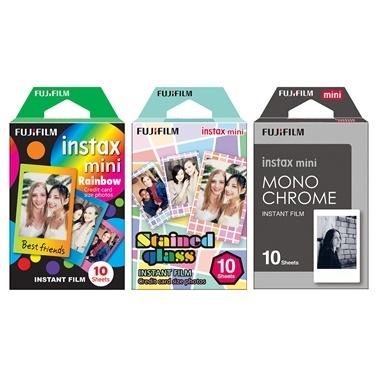 Fujifilm instax mini Siyah Albüm, Gri Çanta ve 3'lü Özel Film Seti Renkli